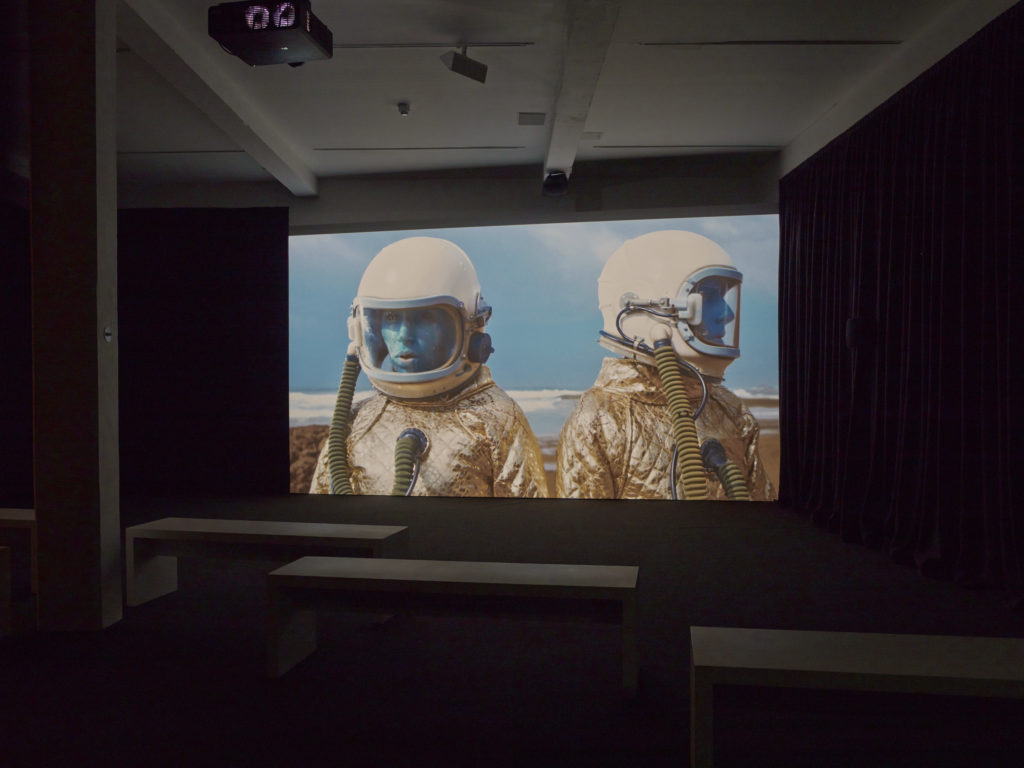 Shezad Dawood: Towards the Possible Film, installation view at Parasol unit, London. Photography by Stephen White.