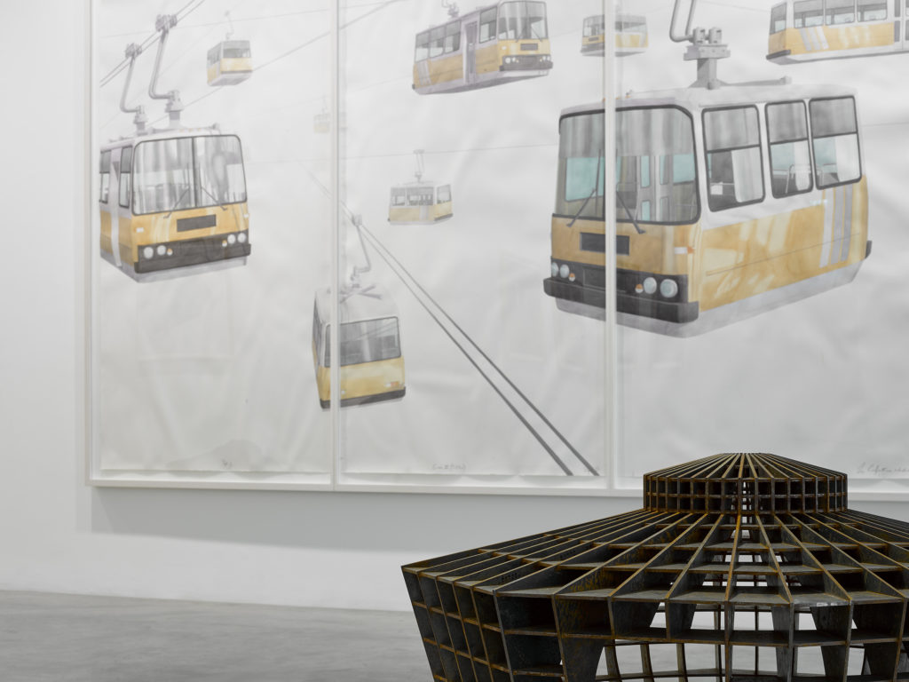 Los Carpinteros, installation view at Parasol unit, London. Photography by Stephen White.