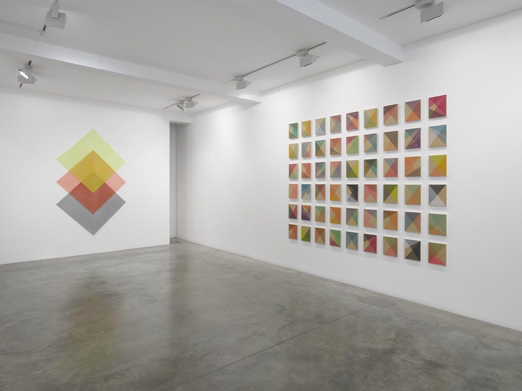 Rana Begum: The Space Between, installation view at Parasol unit, London. Photography by Jack Hems.