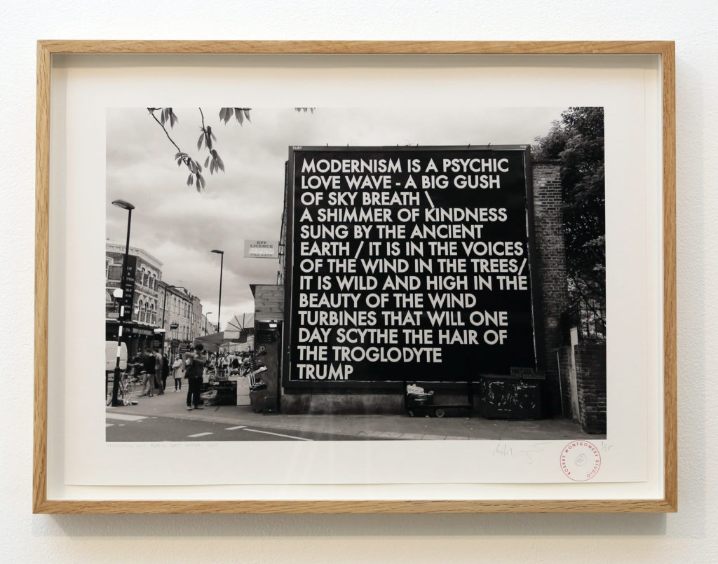 Robert Montgomery Hammersmith Poem billboard Broadway Market October 2017