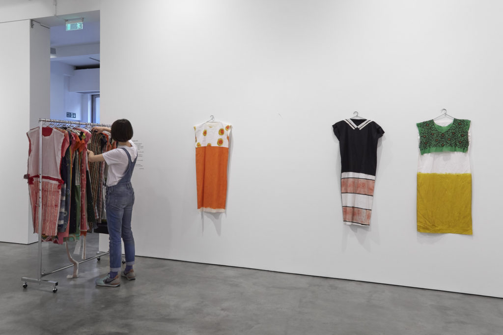 Here & There: Paintings by Lisa Milroy, installation view at Parasol unit, London. Photography by Benjamin Westoby.