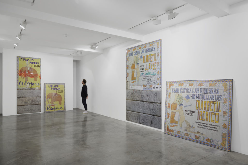 Carlos Garaicoa, installation view at Parasol unit, London, 2018. Photograph by Benjamin Westoby.