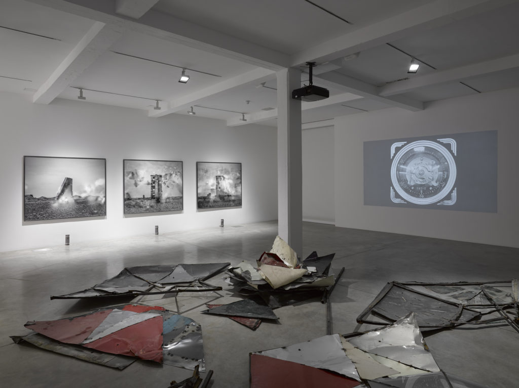 Julian Charrière: For They That Sow the Wind, installation view at Parasol unit, London. Photography by Jack Hems.