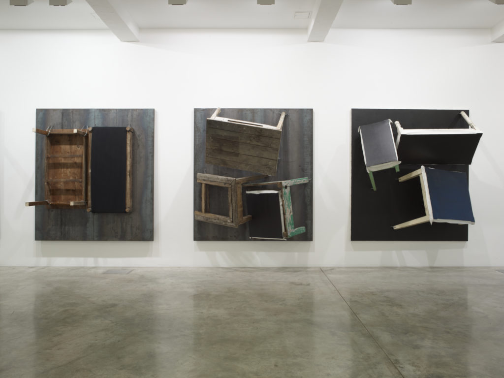 Jannis Kounellis, installation view at Parasol unit, London. Photography by Stephen White.