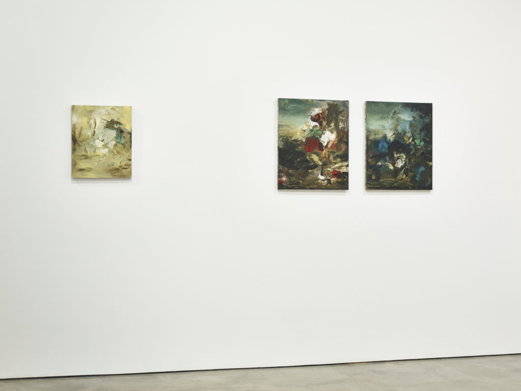 Katy Moran, installation view at Parasol unit, London. Photography by Stephen White.