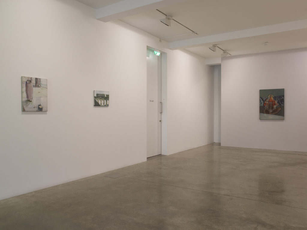 Merlin James, installation view at Parasol unit, London. Photography by Stephen White.