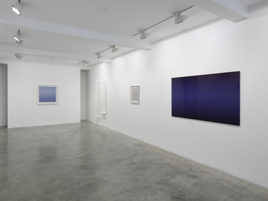 The Gap: Selected Abstract Art from Belgium, installation view at Parasol unit, London. Photography by Jack Hems.