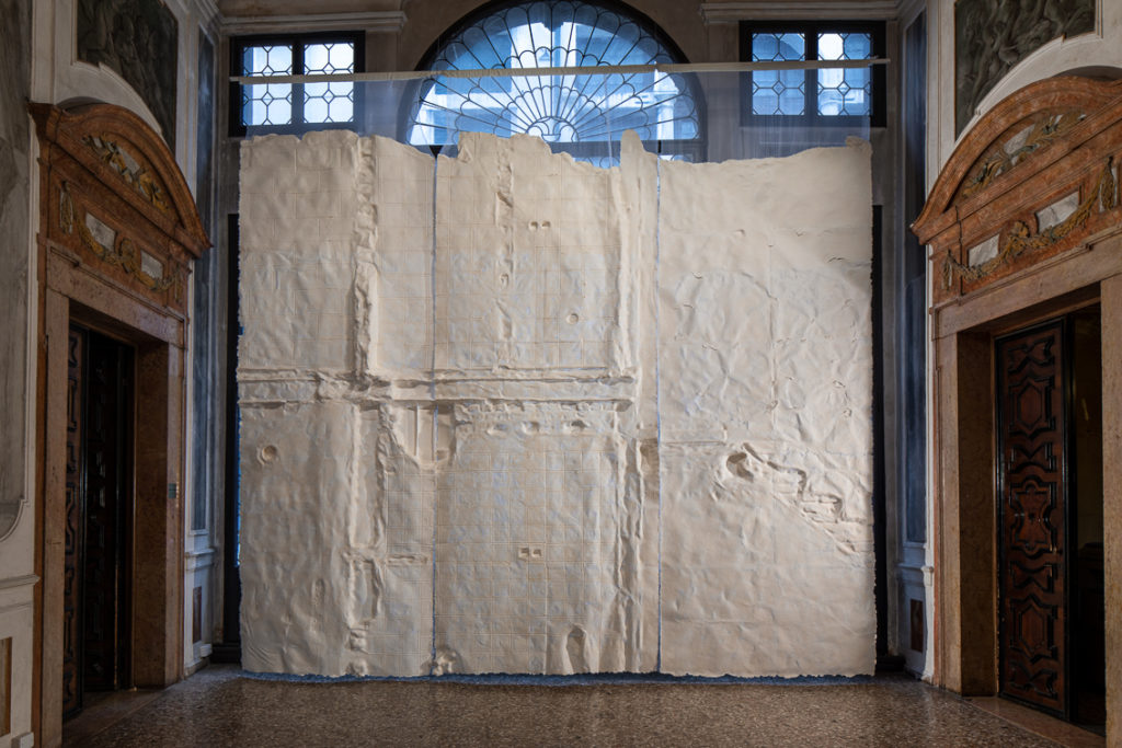Nazgol Ansarinia, Membrane, 2014. THE SPARK IS YOU: Parasol unit in Venice, installation view at Conservatorio di Musica Benedetto Marcello di Venezia, 2019. Courtesy the artist and Parasol unit. Photograph by Francesco Allegretto.