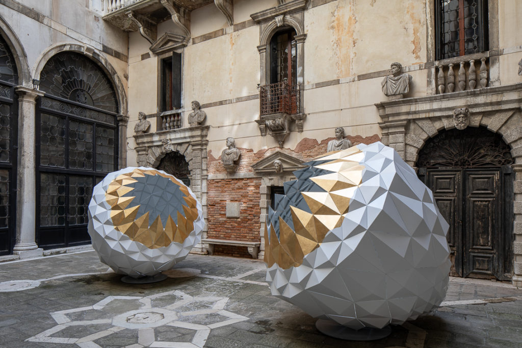 Sahand Hesamiyan, Forough, 2016. THE SPARK IS YOU: Parasol unit in Venice, installation view at Conservatorio di Musica Benedetto Marcello di Venezia, 2019. Courtesy the artist and Parasol unit. Photograph by Francesco Allegretto.