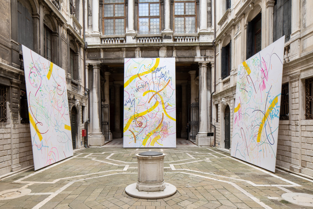 Navid Nuur, The Tuners, 2005-2019. THE SPARK IS YOU: Parasol unit in Venice, installation view at Conservatorio di Musica Benedetto Marcello di Venezia, 2019. Courtesy the artist and Parasol unit. Photograph by Francesco Allegretto.