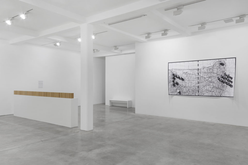 Rayyane Tabet: Encounters, installation view at Parasol unit, London, 2019. Photography by Benjamin Westoby.