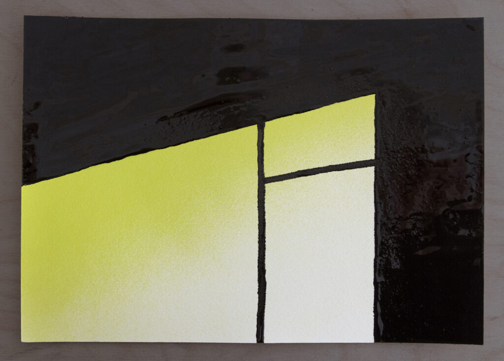Painting of a kitchen window